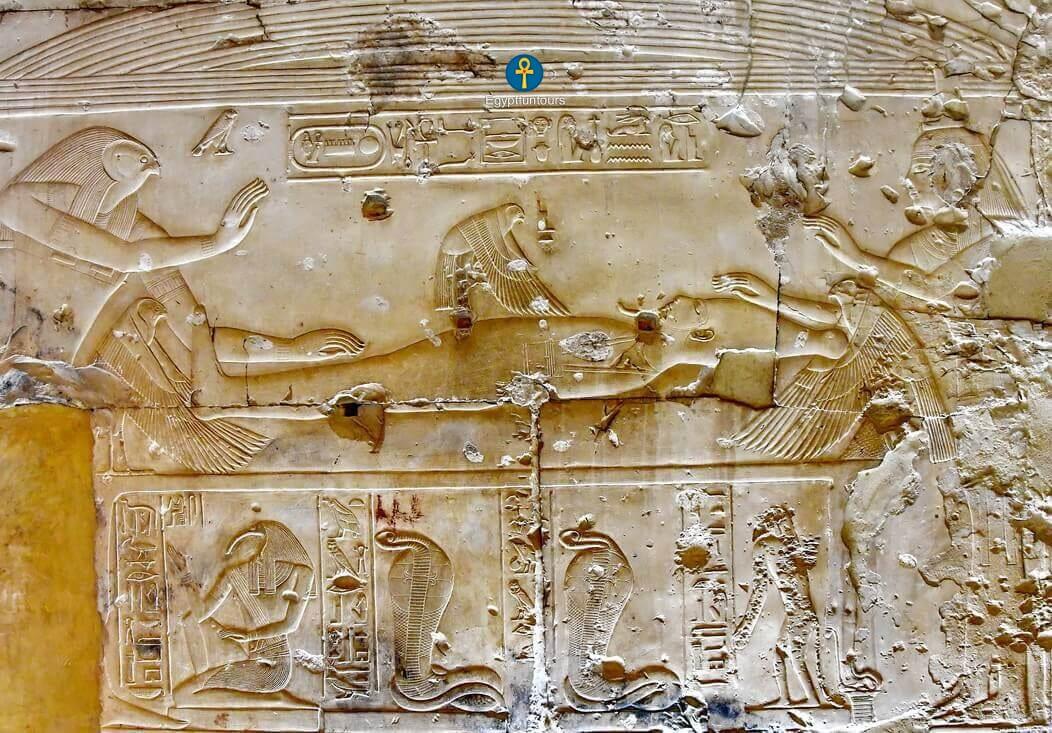 The divine birth of God Horus